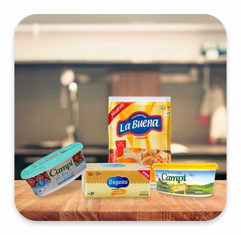 Margarinas y esparcibles de Team Foods